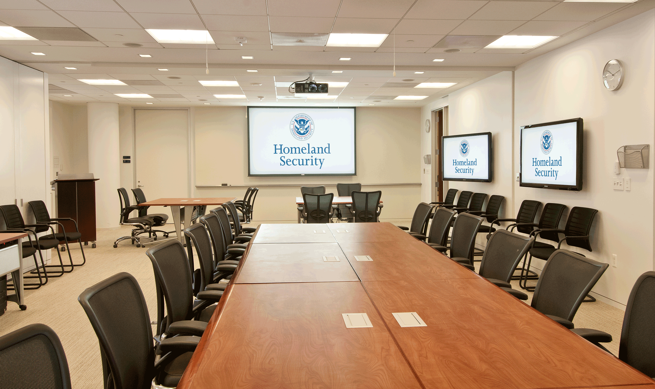 divisible conference room audiovisual design build case study - Conference Hall Interior Design
